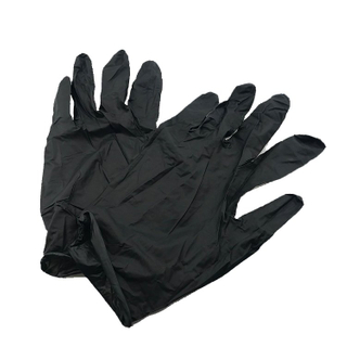 CE Approved Examination Disposable Medical Black Nitrile Gloves