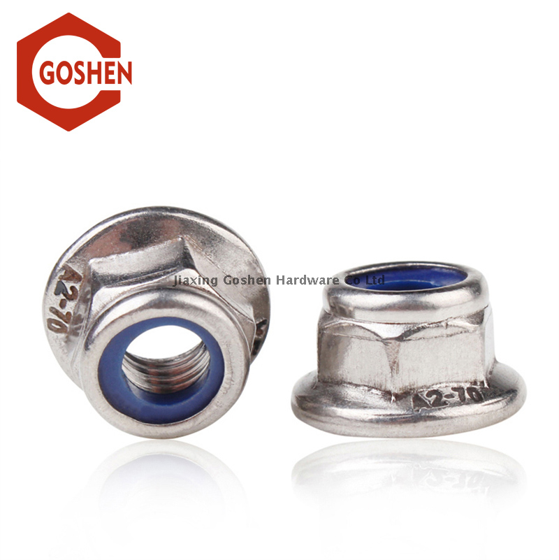 Stainless Steel Nylon insert lock flange nut