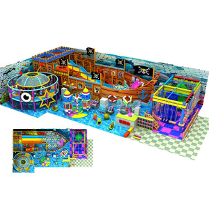 Ocean Theme Indoor Playground Equipment with Rope Course