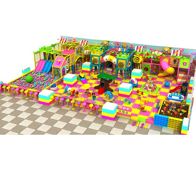 Candy Theme Soft Children Indoor Playground with Ball Pit