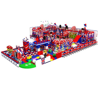 England Themed Kids Aumsement Park Indoor Soft Playground