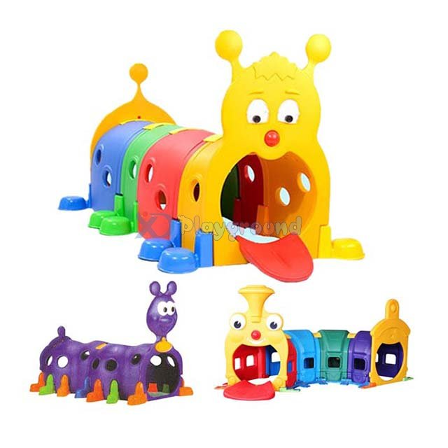 Amusement Park Small Various Color Kid Plastic Play Tunnel