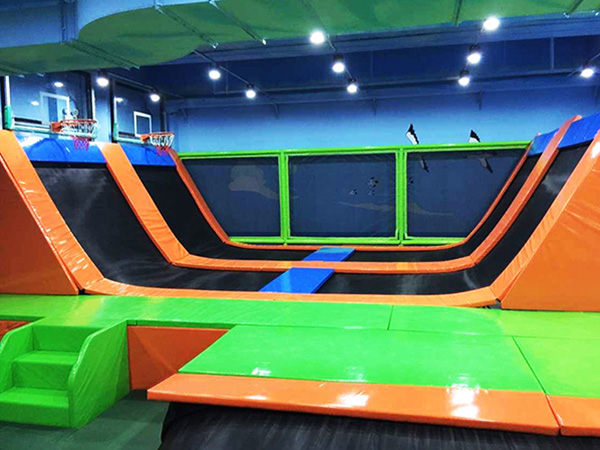 What size Trampoline Park do I need in playground?
