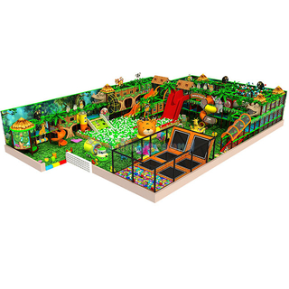 Jungle Gym Adventure Children Soft Play Structure with Ball Pool n trampoline