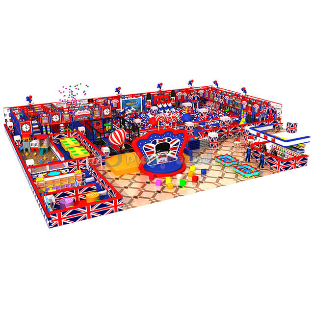 Customized Amusement Park Children Indoor Soft Playground with Trampoline