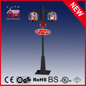 (LV30188DH-RRH11) Classic Red and Black Snowing Street Light for Christmas Decortion