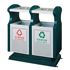 Iron coated waste can for street use HW-70