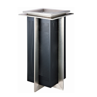 Delicacy Black Painting Steel Dustbin (YH-004)