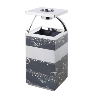 Stainless Steel Lobby Dustbin with Musical Style (YH-162)