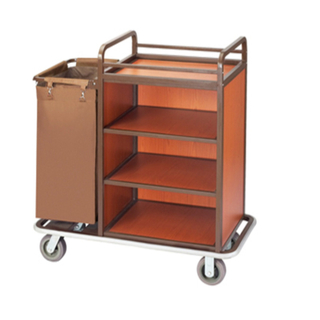 Hotel Guest Room Cleaning Linen Trolley Laundry Cart (FW-57)