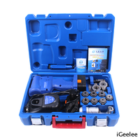 CT-E800A/ML Cordless Electric Flaring Tool Kit with Scraper Tube Cutter Spare Battery Steel Bar And Charger for 6mm-19mm