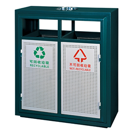 Iron Coated Outdoor waste can for hotel HW-66