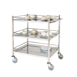 Stainless Steel Hotel Service Cart/Restaurant Service Trolley (FW-27)