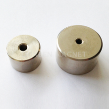Samarium Cobalt deep pot magnet ,SmCo pot magnets with hole,Samarium Cobalt Pot Magnet Thread Hole Mounting