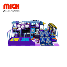 Purple Indoor Soft Playground con Donat Slide Equipment per bambini
