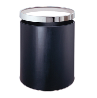 Rounded waste can with iron coated KL-01
