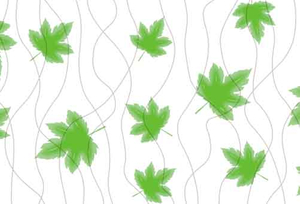 PAA-133AH01-FG Light Green Maple Leaves Silver Lines(White Backing)
