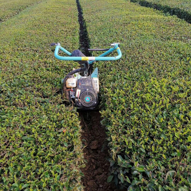 Self-propelled tea garden management machinery (Ditching, weeding, soil loosening).