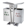Stainless steel street scrape waste can HW-135