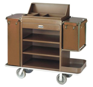 No-Foldabe with Two Clothbag Guestroom Service Trolley (FW-97)