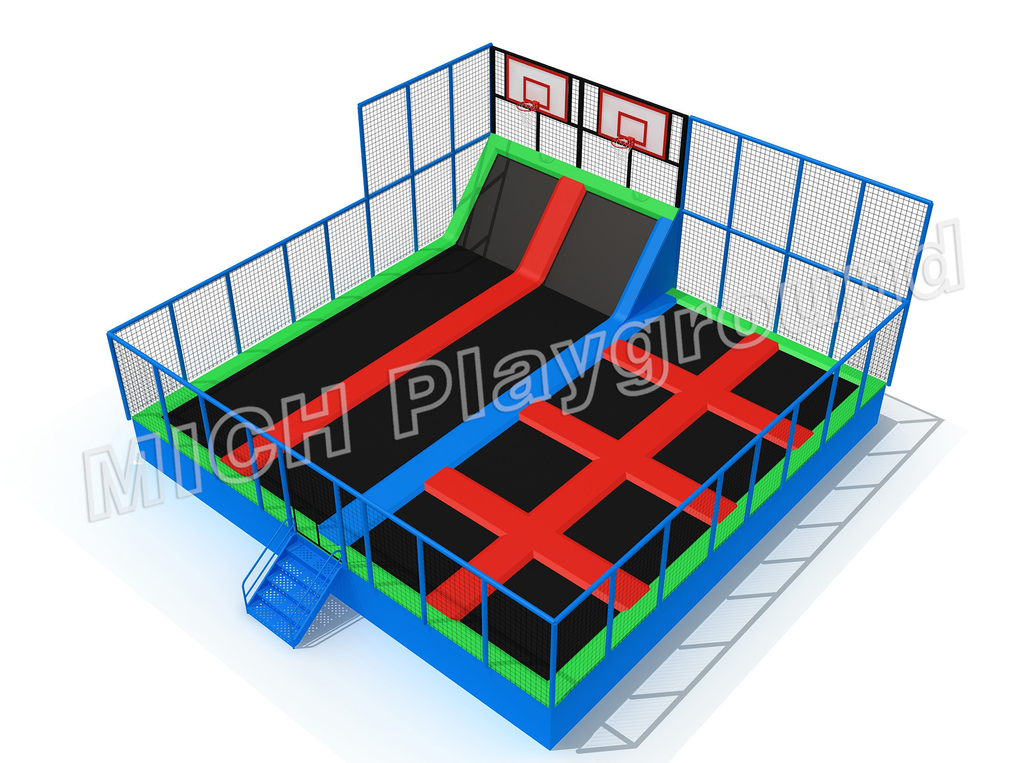 trampoline jumping equipment for sale 7127B Buy trampoline park