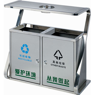 Commercial Outdoor waste can with stainless steel material HW-316