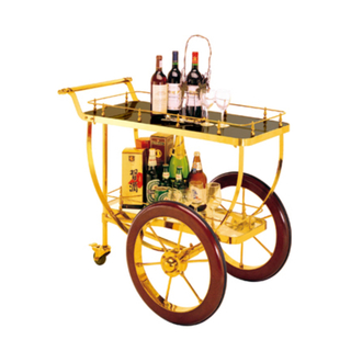 Luxury Liquor and Service Trolly with Stainless Steel for Restaurant (FW-41)