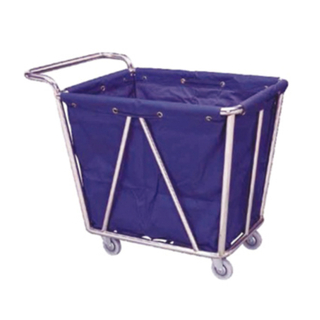 Maid Cart Stainless Steel Hotel Handrail Linen Trolley / Laundry Trolley FW-13A