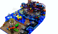 Mich popular plastic toys indoor soft playground with ball pit 7020A