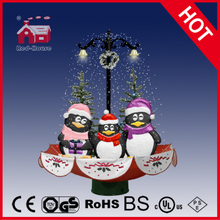 (118030U075-3P-RS) Snowing Christmas Decorations with Umbrella Base