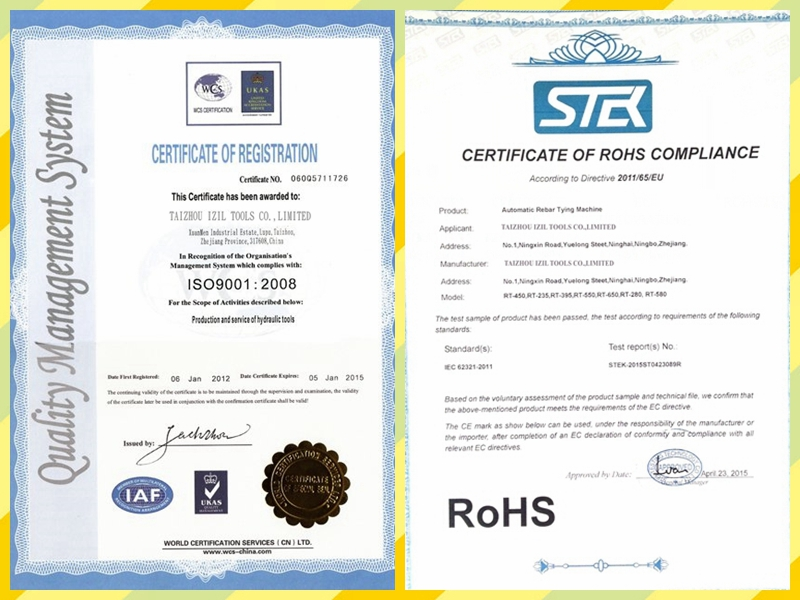 CERTIFICATE OF REGISTRATION ISO9001 2008& ROHS