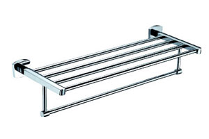 Stainless Steel Double Tier Towel Rack (JP-722)