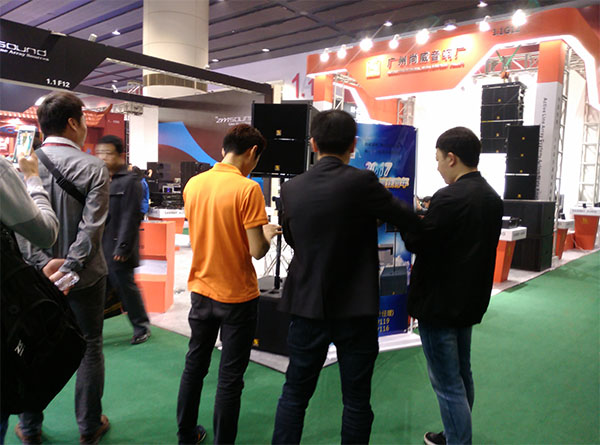 Sanway VR10 & S30 Powered Line Array System в 2017 году Guangzhou Prolight + Sound Expo