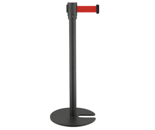 Black painting Crowd Control Retractable Belt Barriers for airport(LG-23B)