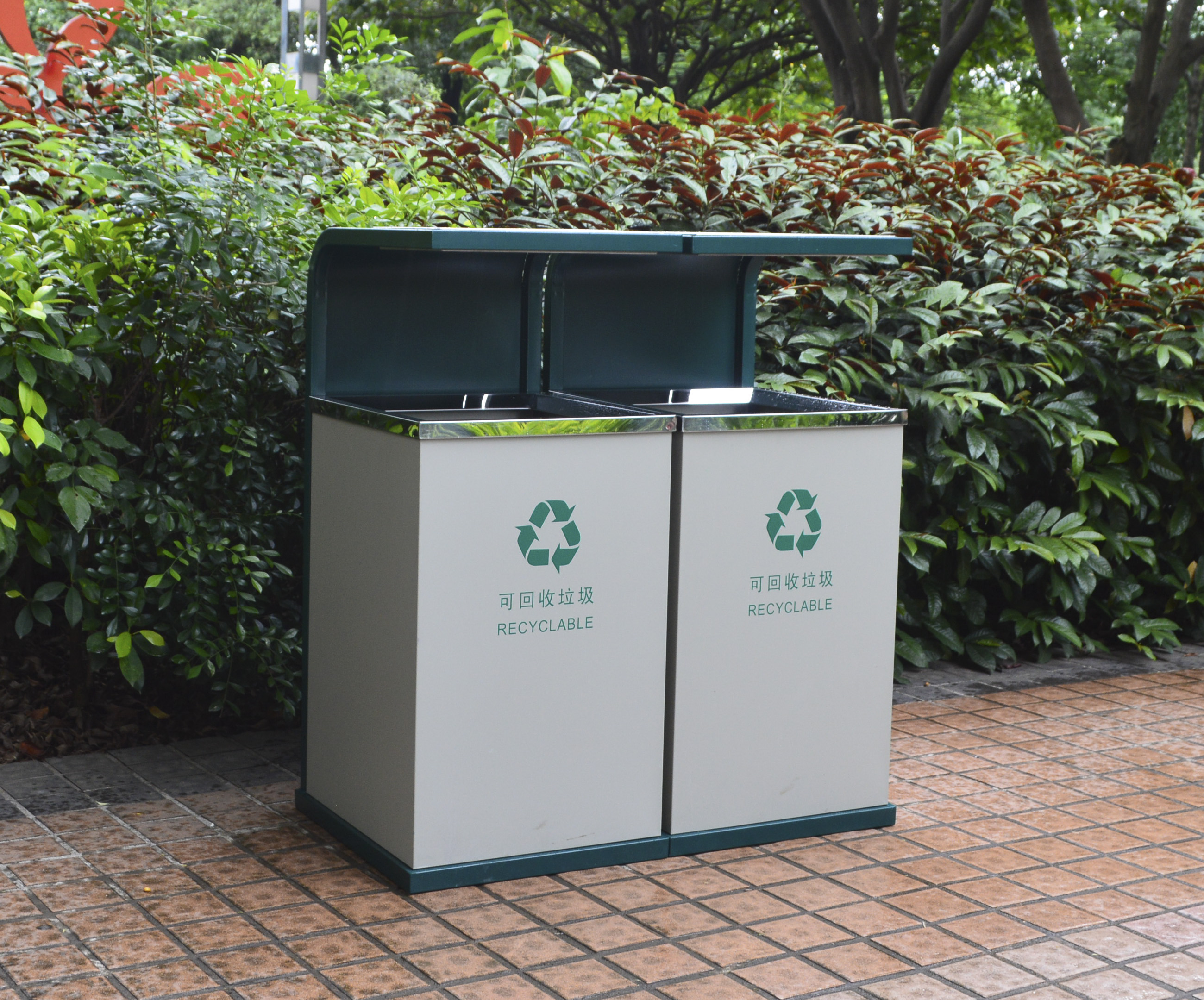 Outdoor Waste Can for Garden Decoration HW-64