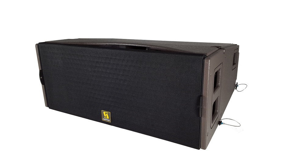 KUDO Tri Way Dual 12 inci Pro Audio Line Array Speaker Box