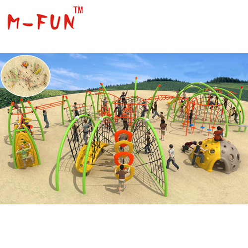 Net climbing playground equipment