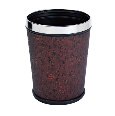 Waste baskets with leather coated KL-008A