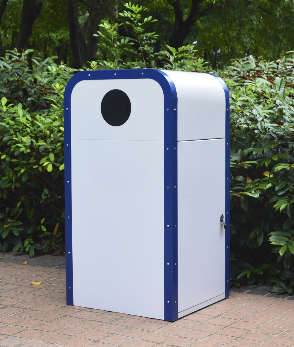 Waste Bin for Park Use with Metal Material