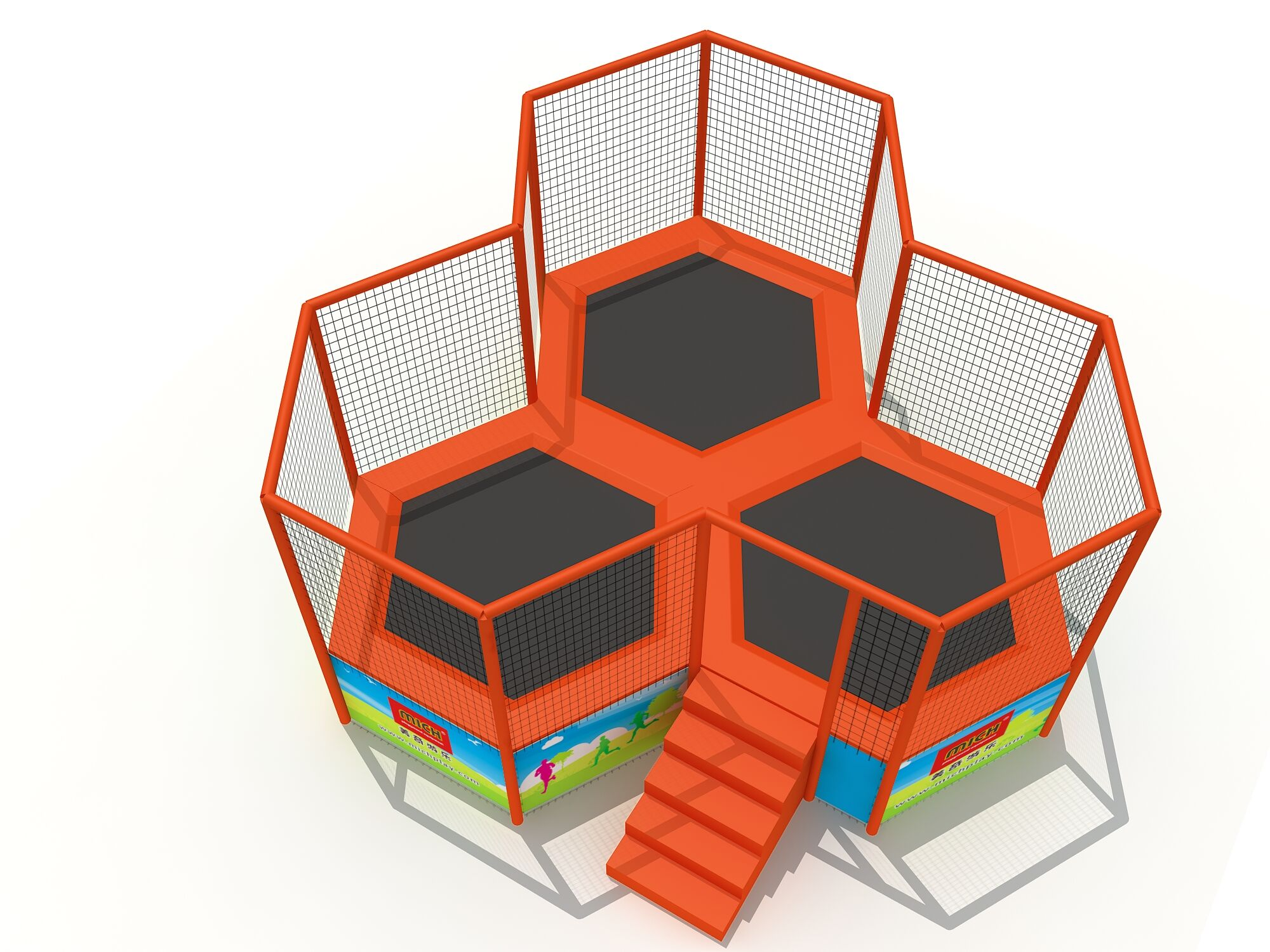 New features: Hexagon trampoline
