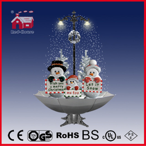 (40110U170-3SB-SW) Snowing Christmas Decorations with Umbrella Base