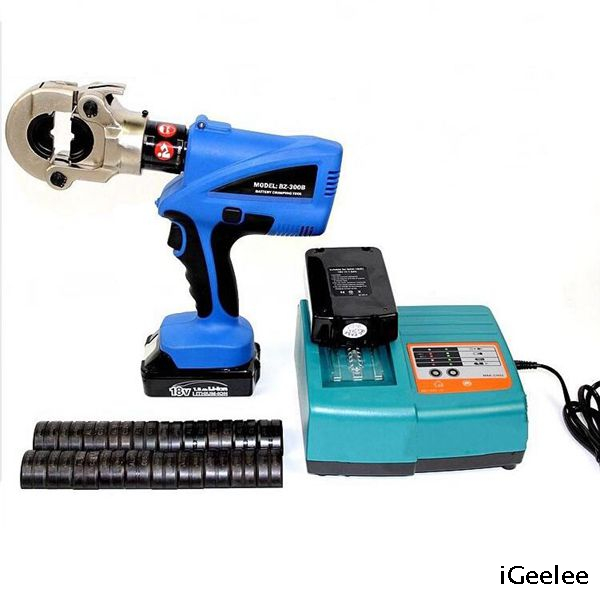 BZ-300B Min Power Battery Hydraulic Copper And Aluminum Cable Lug Crimping Tools Crimp for 16-300mm2