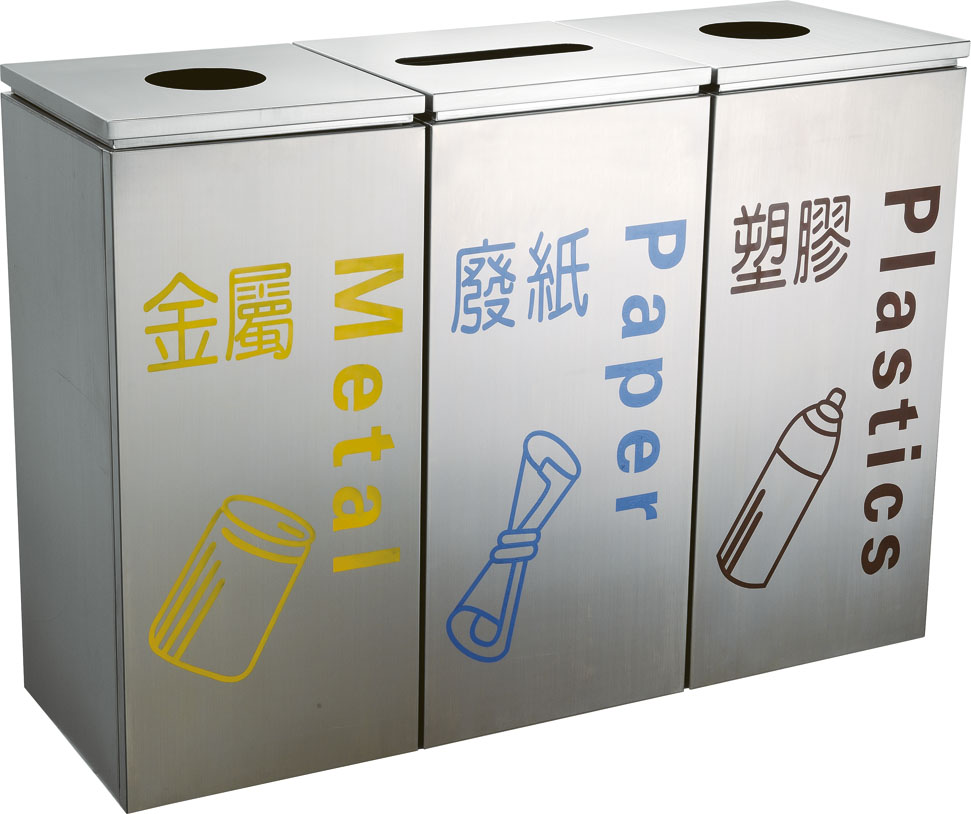City recycling waste can with heavy metal HW-152