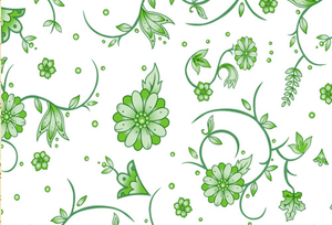 PAA-139A01-FG Light Green Chrysanthemum Pattern (A)(White Backing)
