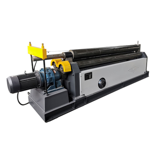 W11-12X2500 Metal Plate 3 Rollers Bending Roll Machine with Cone Roll Capability And Profile Bending
