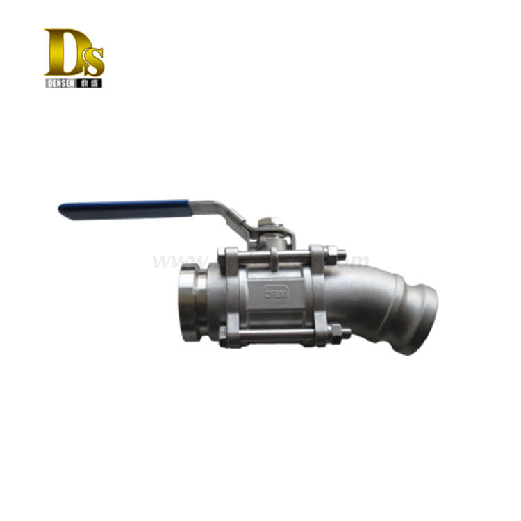 Fully Welded Stainless Steel Pneumatic / Electric Ball Valve Part