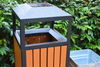 Outdoor Plastic Wood Waste Bin From China Factory HW-04