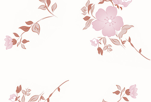PAA-156T01-FG Dark Pink Potentilla Fruticosa Pattern(A)(White Backing)