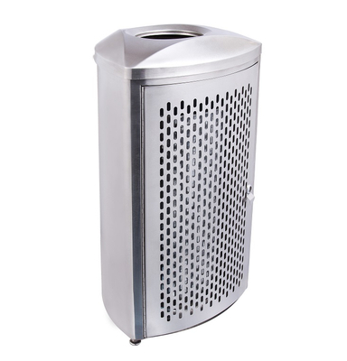 Stainlss Steel Waste Bin for Shopping Mall