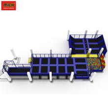 Professional bounce indoor trampoline jumping playground equipment
